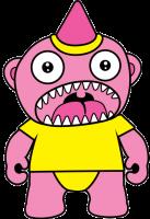 Josie Loves J Valentine pink monster