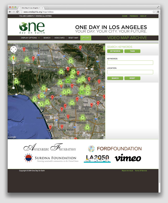 One day on earth website map