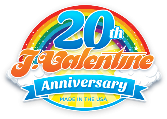 J Valentine 20th Anniversary Badge design