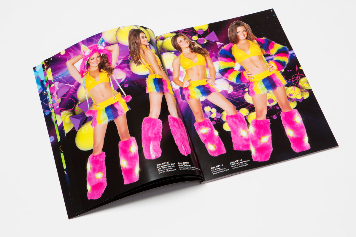 J Valentine clubwear catalog shiny colorful costume