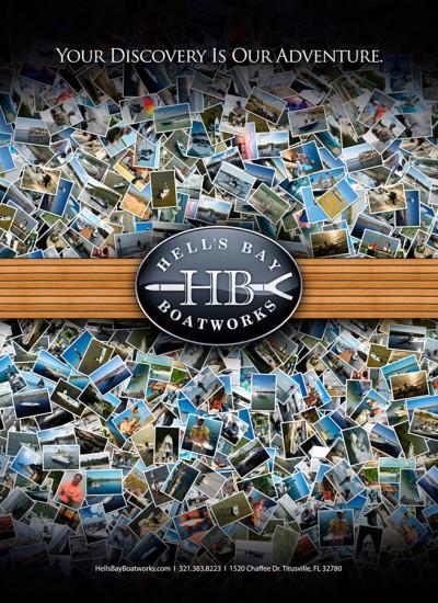 Hells Bay Boatworks logo advertising