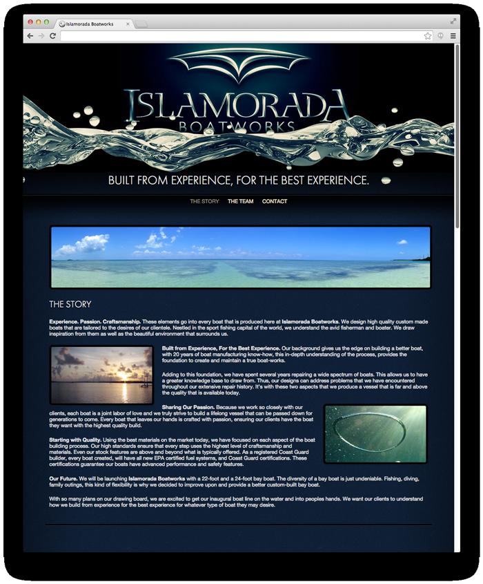 Islamorada Boatworks Website Design