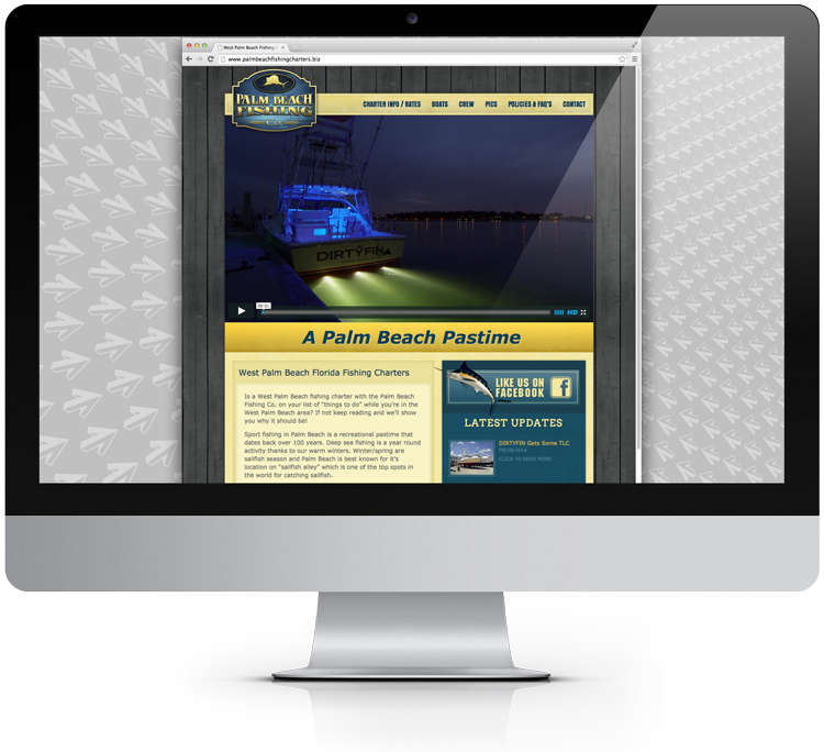 Palm Beach Fishing Charters Homepage Design