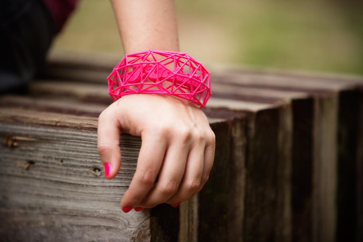 J Valentine 3d bracelet on wrist