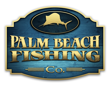 Palm Beach Fishing Co. Full Logo design