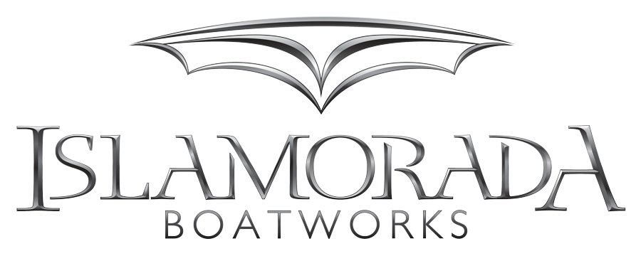 Islamorada Boatworks Chrome Logo design