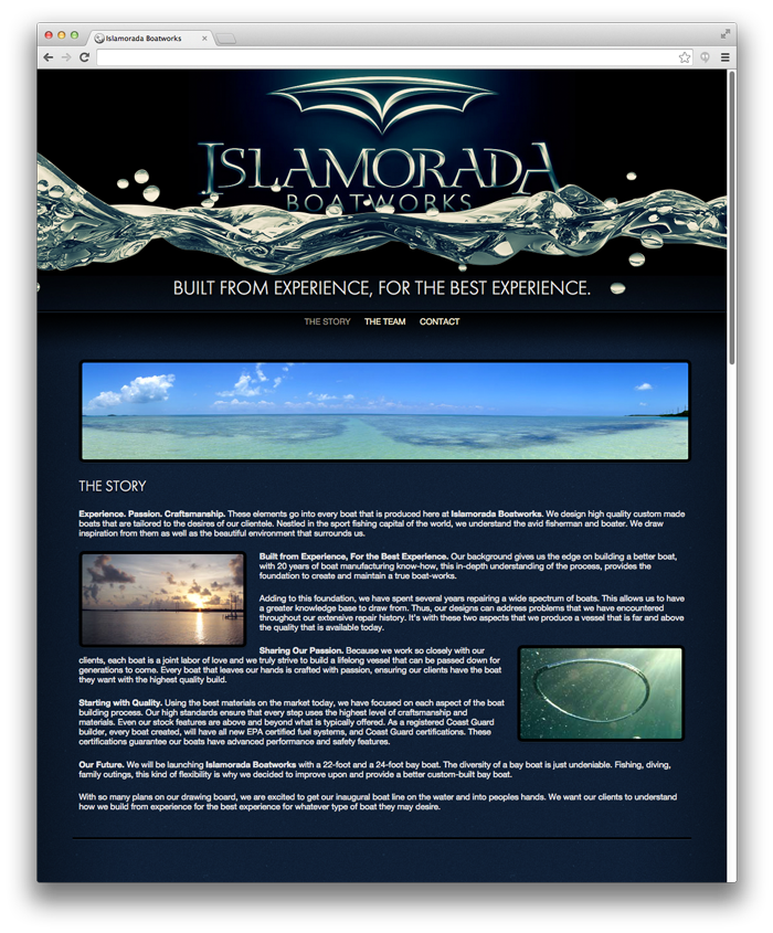 Islamorada Boatworks Website Design