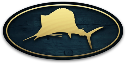 Palm Beach Fishing Co. Fish Logo emblem