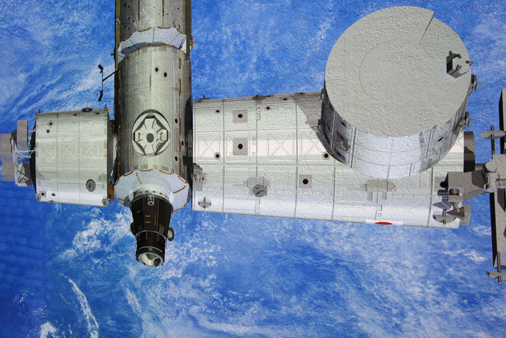 Kennedy Space Center iss mural detail
