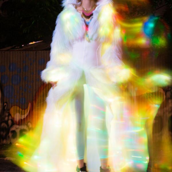 Nataci glamour rainbow light fashion commercial photography