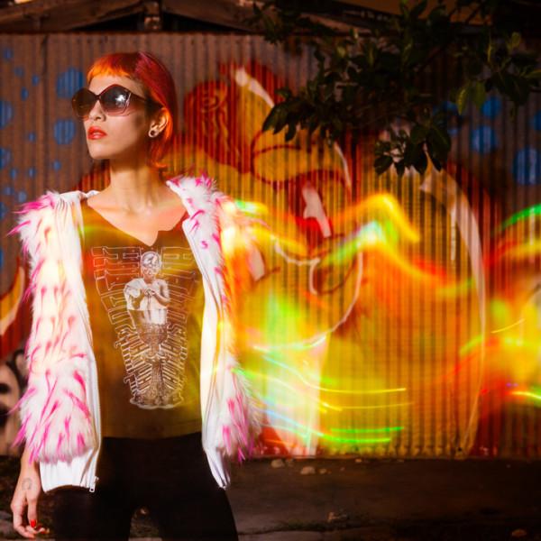 Nataci urban light painting